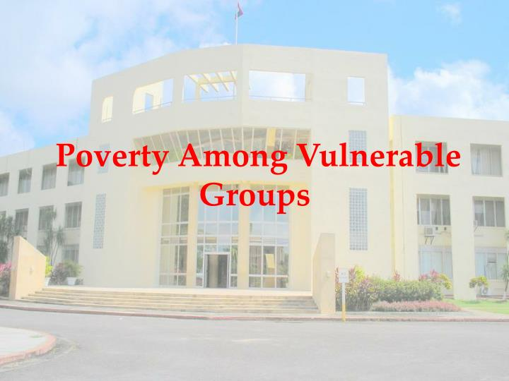 Poverty Among Vulnerable Groups