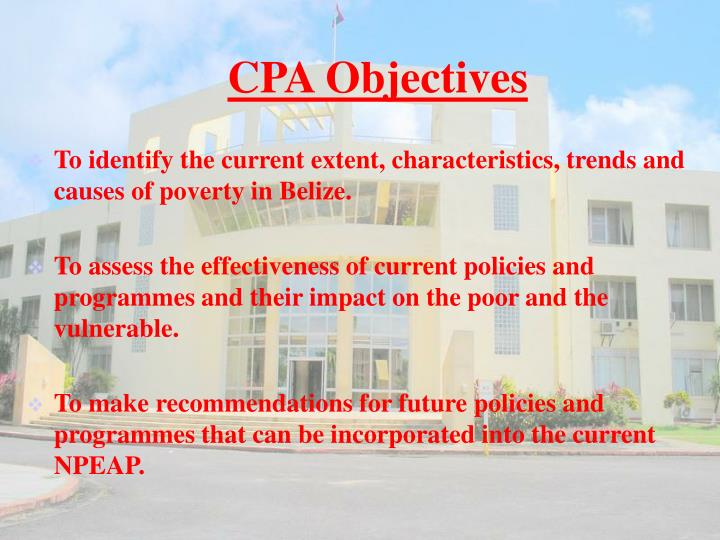 CPA Objectives