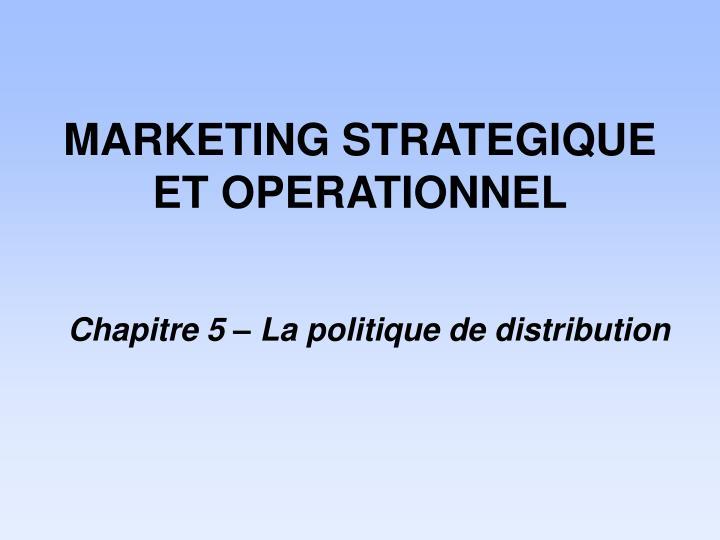 marketing strategique et operationnel n.