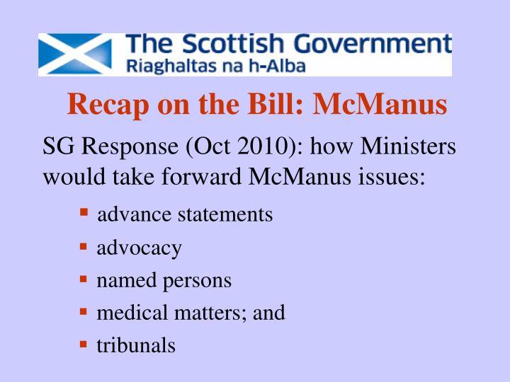 Recap on the bill mcmanus