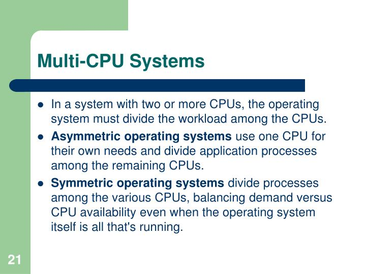 Multi-CPU Systems