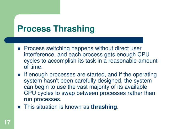 Process Thrashing