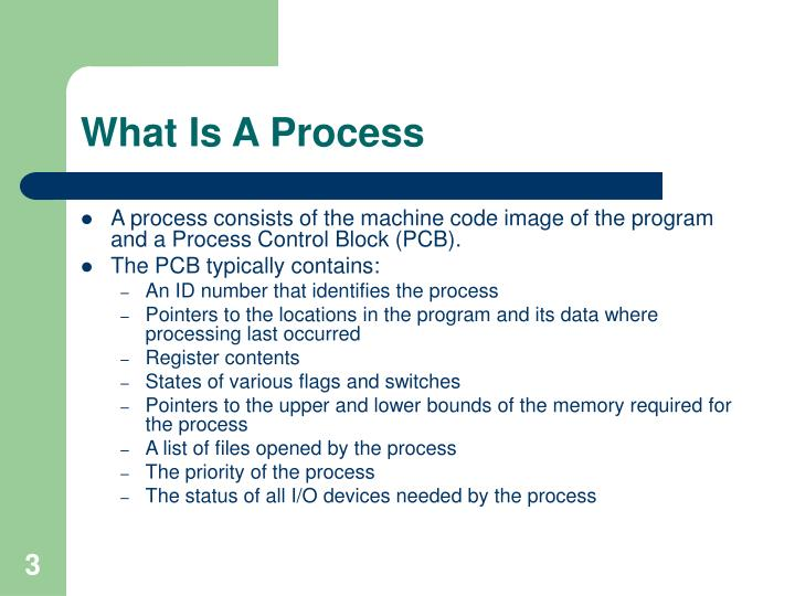 What is a process1