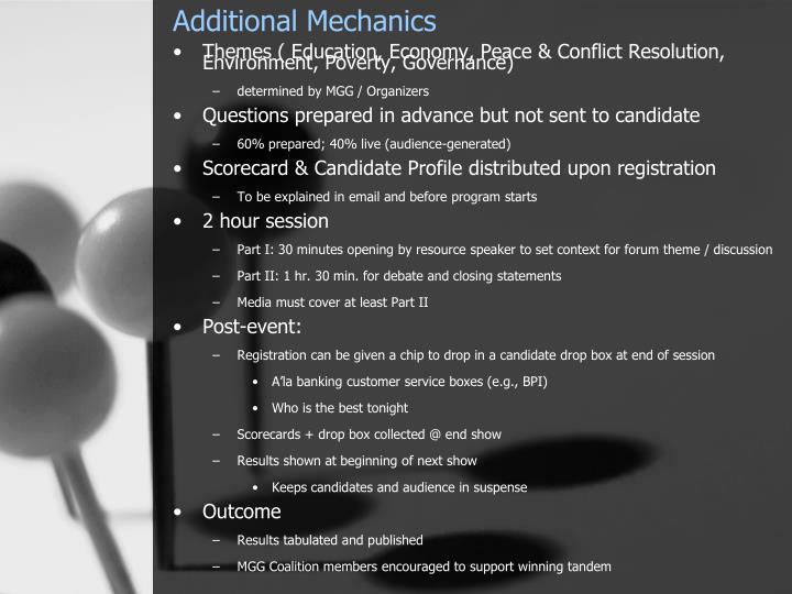 Additional Mechanics
