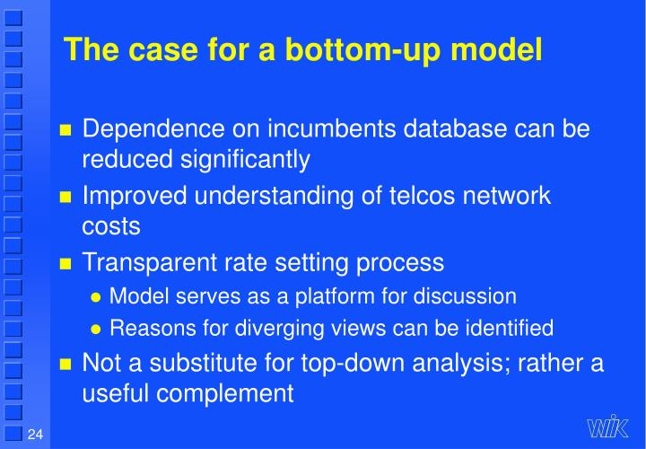 The case for a bottom-up model