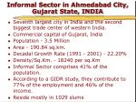 informal sector in ahmedabad city gujarat state india