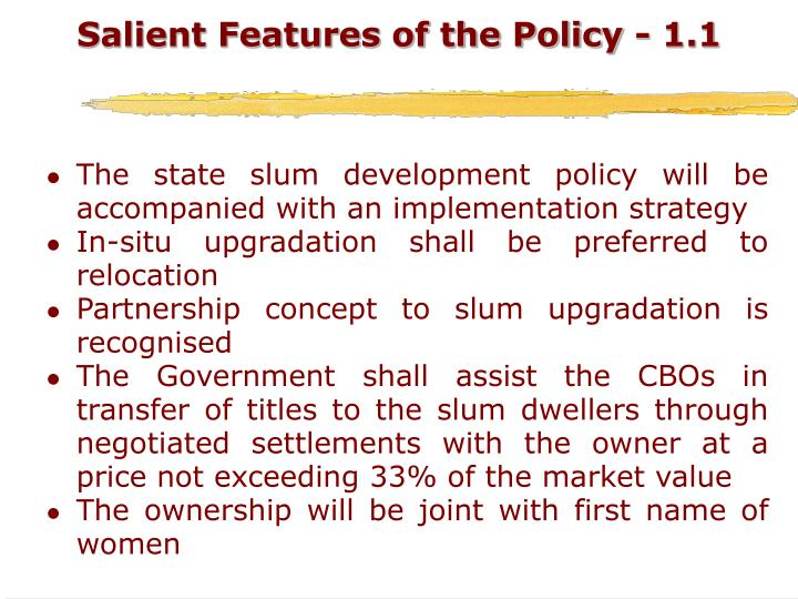 Salient Features of the Policy - 1.1