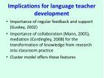 implications for language teacher development1