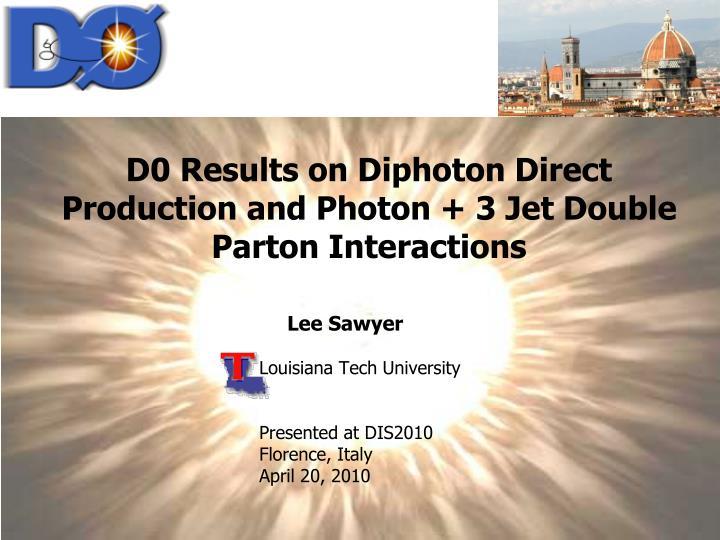 lee sawyer louisiana tech university presented at dis2010 florence italy april 20 2010 n.