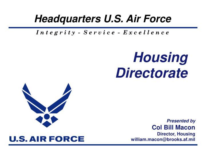 Housing Directorate