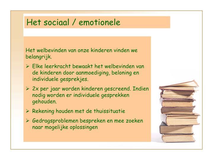 Het sociaal / emotionele