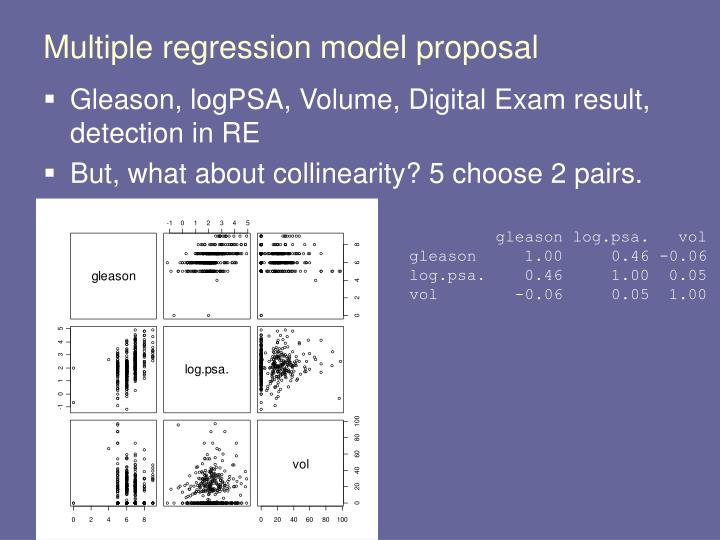 Multiple regression model proposal