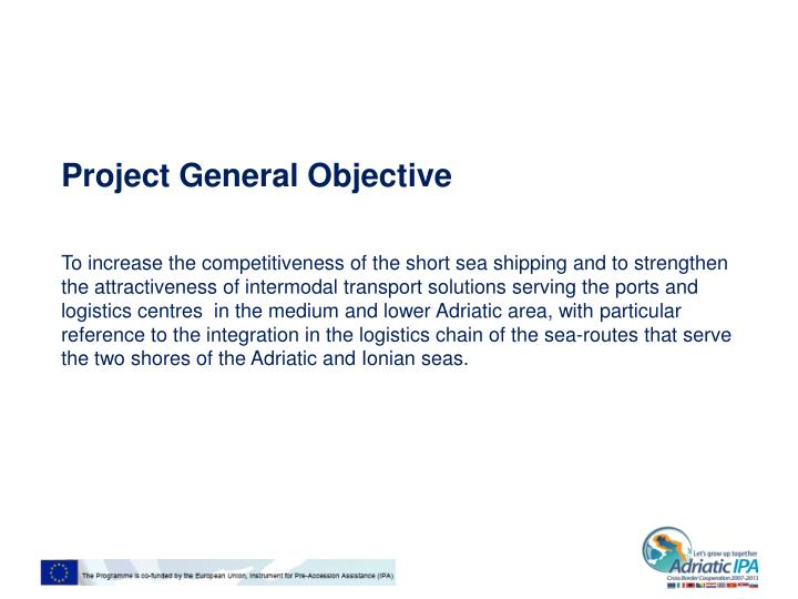 Project general objective