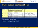 basic system configurations