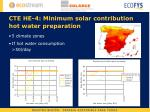 cte he 4 minimum solar contribution hot water preparation