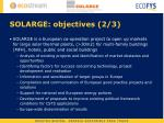 solarge objectives 2 3
