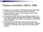 poplave novembra 1990 in 1998