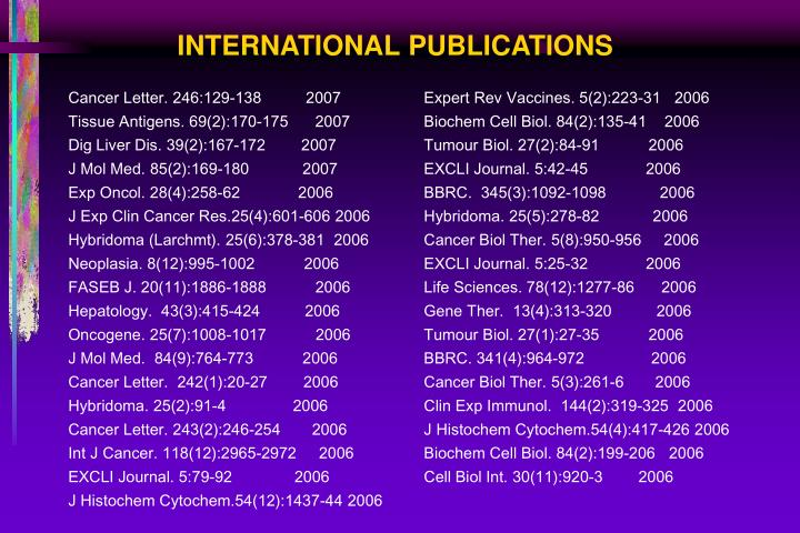 INTERNATIONAL PUBLICATIONS