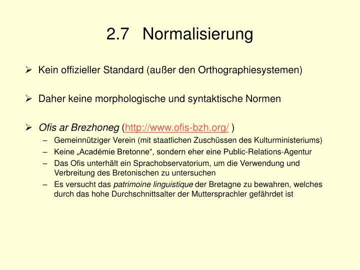 2.7 Normalisierung