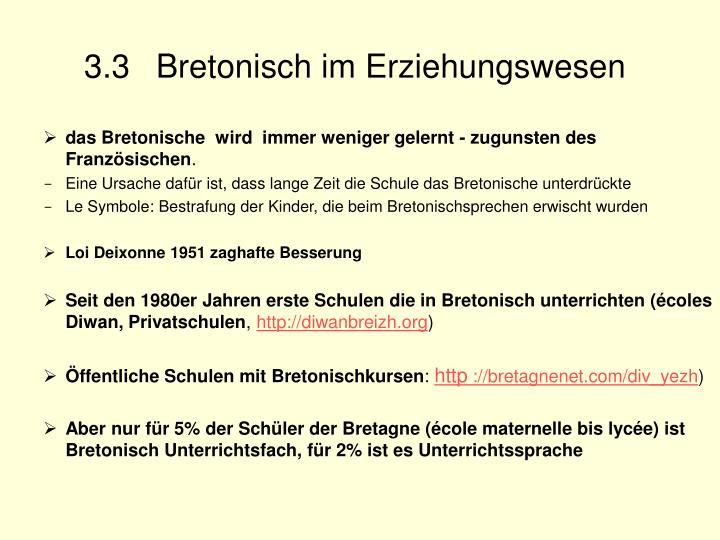 3.3 Bretonisch im Erziehungswesen