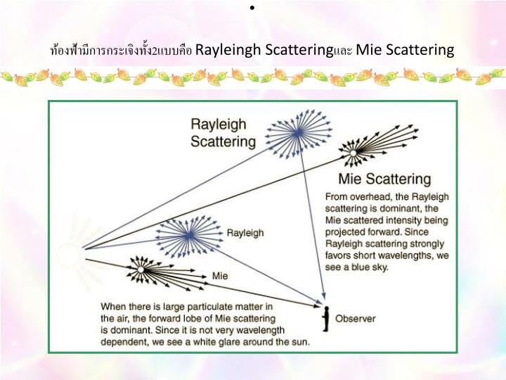 2 rayleingh scattering mie scattering