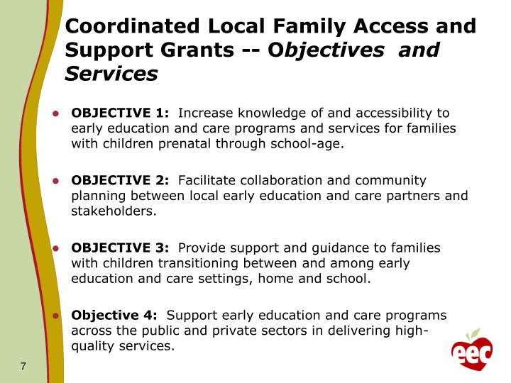 Coordinated Local Family Access and Support Grants -- O