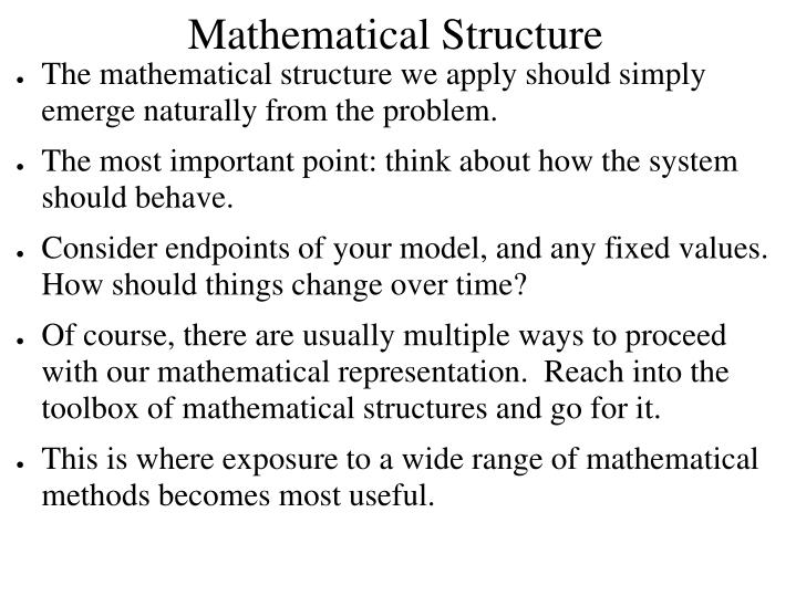 Mathematical Structure