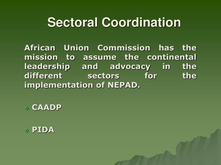 Sectoral Coordination