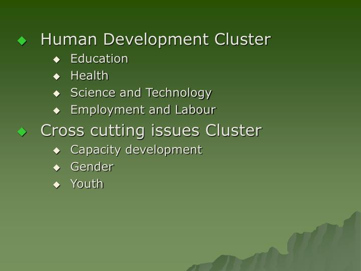 Human Development Cluster