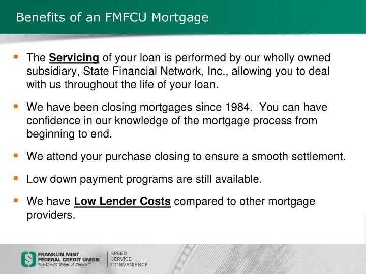 Benefits of an FMFCU Mortgage