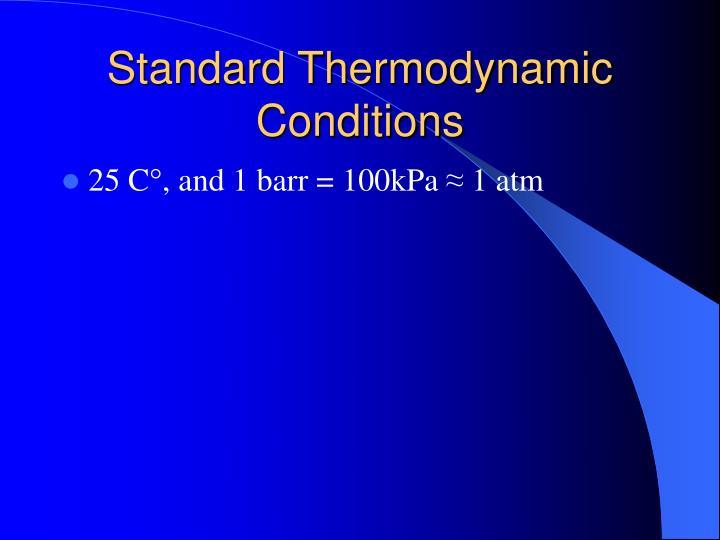 Standard thermodynamic conditions
