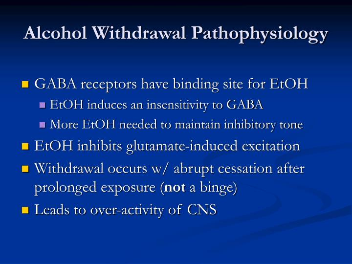 Alcohol Withdrawal Pathophysiology