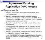 agreement funding application afa process1