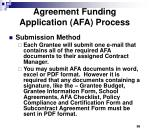 agreement funding application afa process2