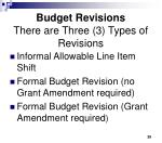budget revisions there are three 3 types of revisions