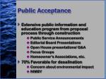 public acceptance