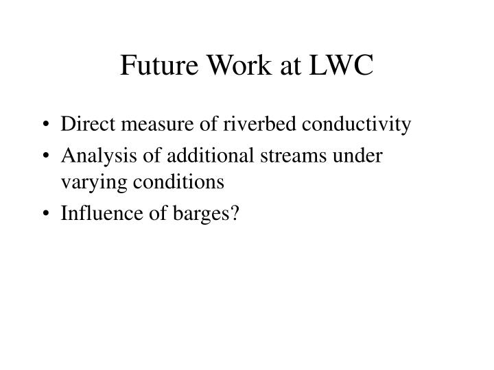 Future Work at LWC