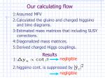 our calculating flow