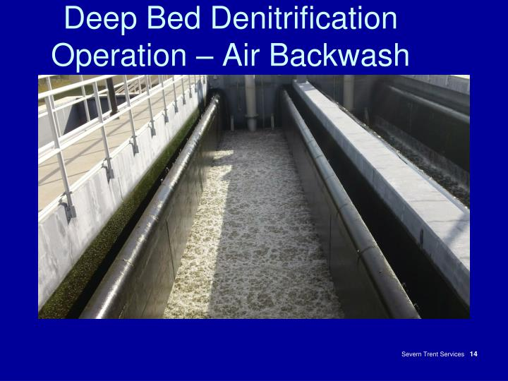 Deep Bed Denitrification Operation – Air Backwash