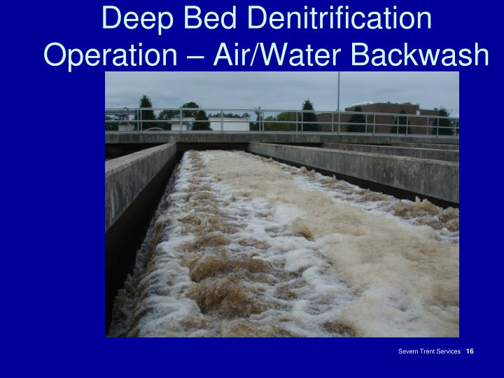 Deep Bed Denitrification Operation – Air/Water Backwash