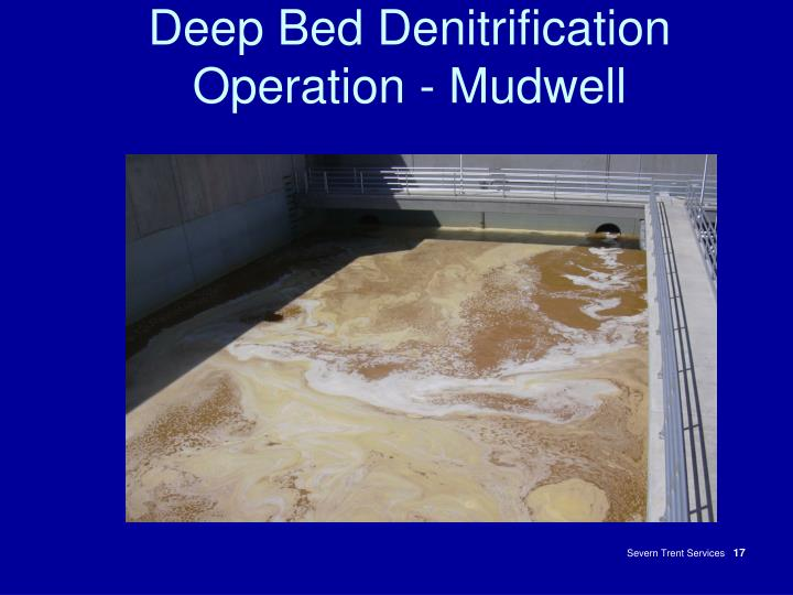 Deep Bed Denitrification Operation - Mudwell
