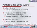asocio 2005 2006 events