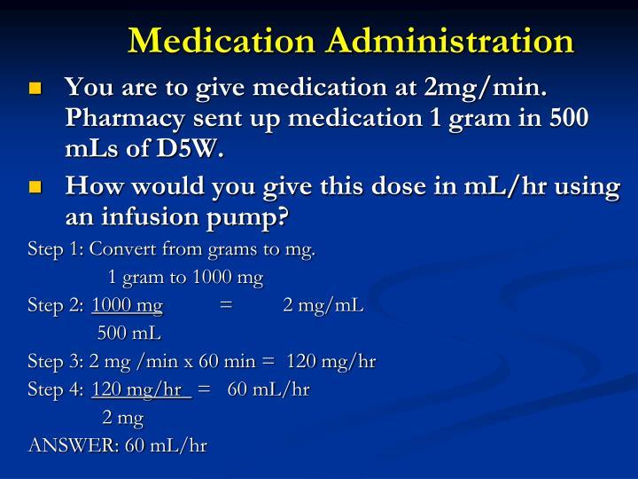 Medication Administration