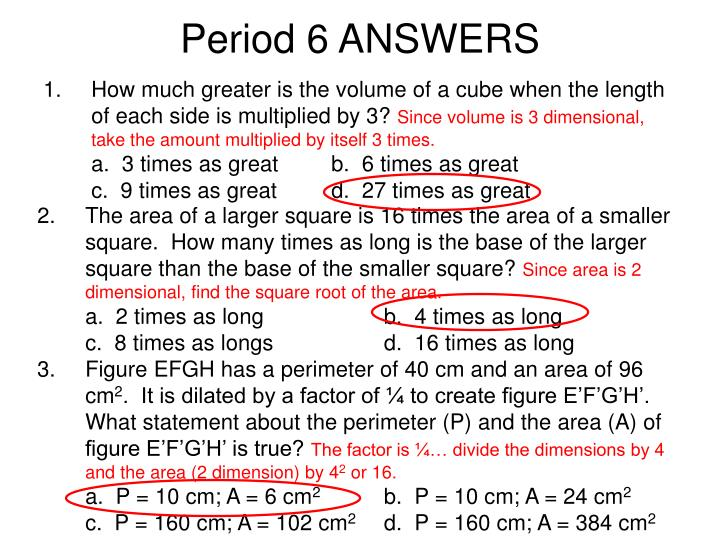 Period 6 ANSWERS