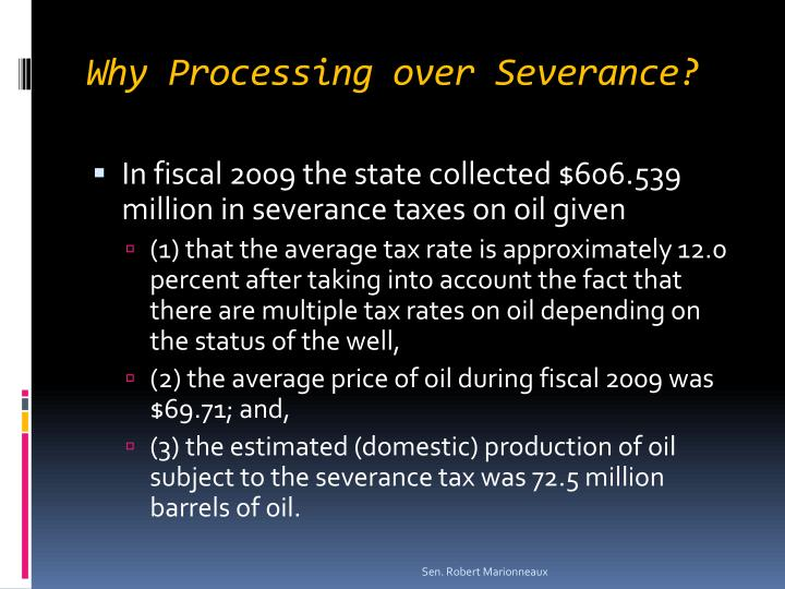 Why Processing over Severance?