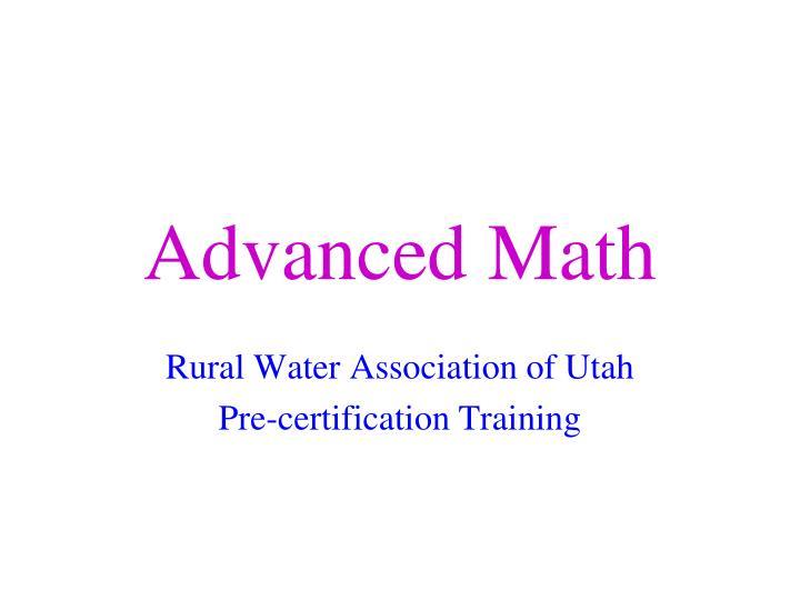 advanced math n.