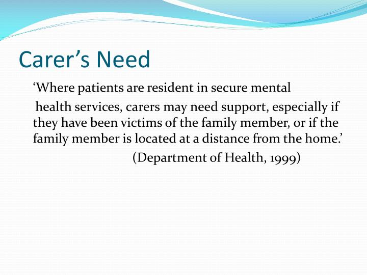 Carer's Need