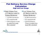 flat delivery service charge calculation high and low usage
