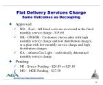flat delivery services charge same outcomes as decoupling
