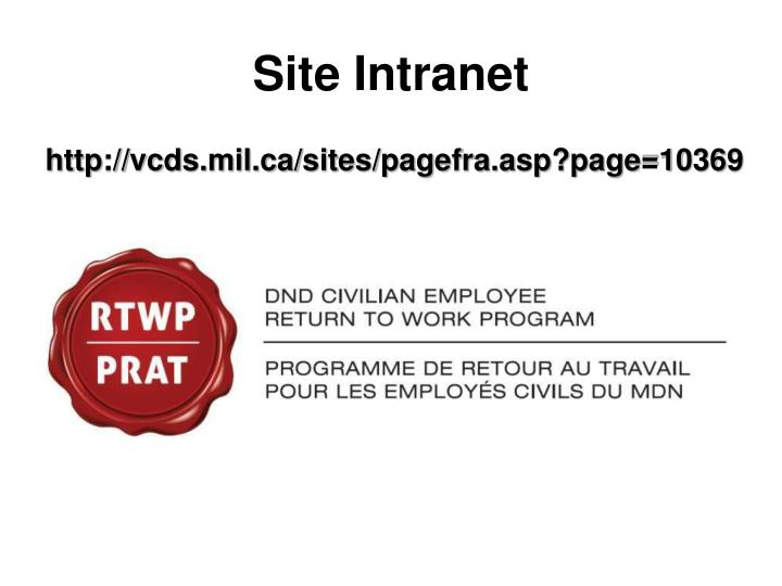 Site Intranet